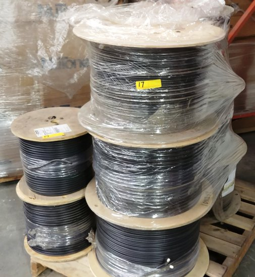 Pallet Of 8 Spools Of Cable