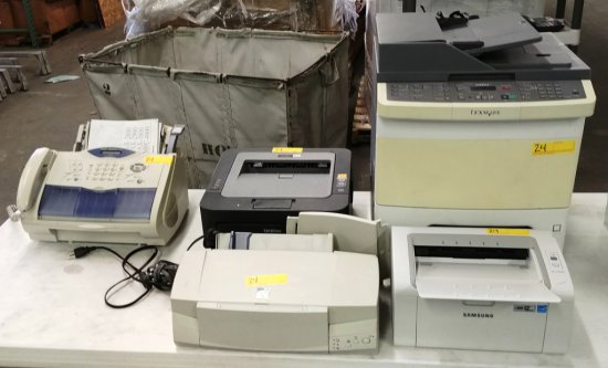 Lot Of 4 Printers & 1 Fax Machine