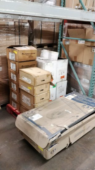 Pallet Of Lithonia, Cooper & Hubbell Light Fixtures
