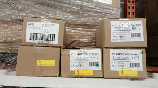 5 Boxes Of Sanisac Liners