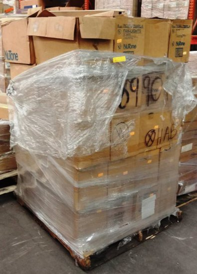 Pallet Of Nutone 763rl/769rla Fan Lights