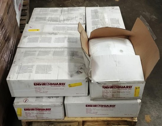 10 BOXES OF 25 EACH POLYPROPOLENE COVERALLS - 2XL