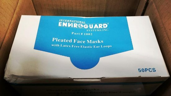 2 BOXES ENVIROGUARD POLYPROPYLENE FACE MASKS