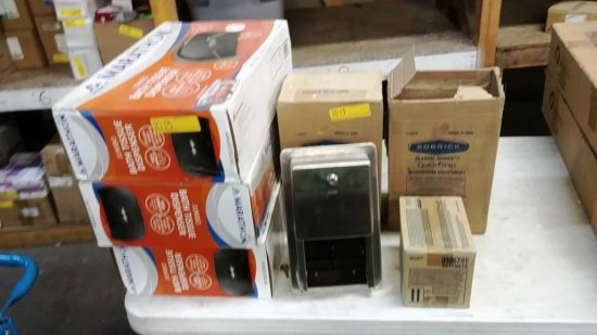 LOT OF 7 BOXES OF COMMERCIAL DISPENSERS AND REFILLS