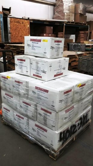 24 BOXES OF 25 EACH ENVIROGUARD COVERALLS (ON PALLET)