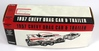 NEW, IN THE BOX: ERTL 1957 CHEVY DRAG CAR & TRAILER BANK