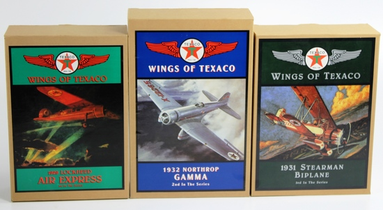 3 NEW, IN THE BOXES WINGS OF TEXACO: 1ST, 2ND & 3RD IN THE SERIES
