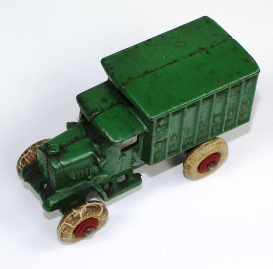 VINTAGE HUBLEY 1920s CAST IRON RAILWAY EXPRESS TRUCK