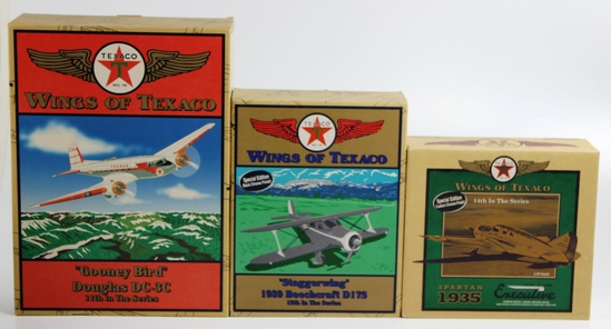 3 NEW, IN THE BOXES WINGS OF TEXACO - 11TH, 12TH & 14TH IN THE SERIES