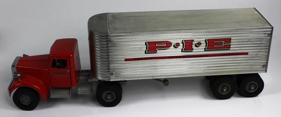 VINTAGE SMITH-MILLER P-I-E SEMI TRUCK & TRAILER - CIRCA 1950s