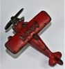 """VINTAGE HUBLEY CAST IRON AIRPLANE """"LINDY"""" RED"""