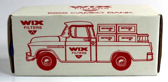 NEW, IN THE BOX: ERTL 1955 CHEVROLET CAMEO BANK - WIX FILTERS