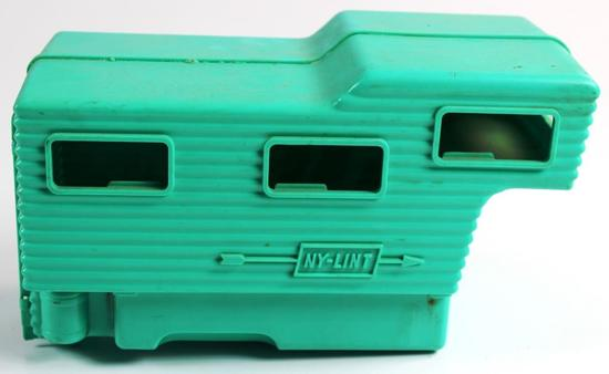 VINTAGE NYLINT TURQUOISE PLASTIC CAMPER ONLY