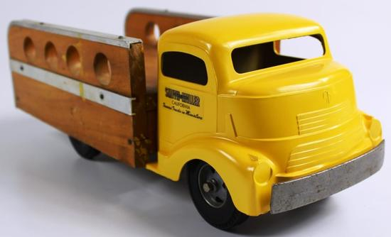 VINTAGE SMITH MILLER GMC COE MATERIALS TRUCK WITH WOOD BED