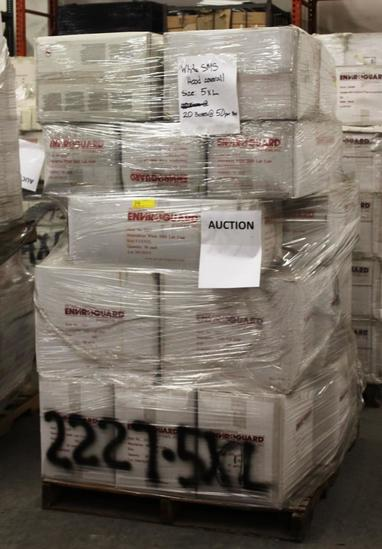 PALLET OF 20 BOXES INTERNATIONL ENVIROGUARD LAB COATS