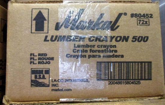 LOT OF MARKAL LUMBER CRAYON 500 - RED