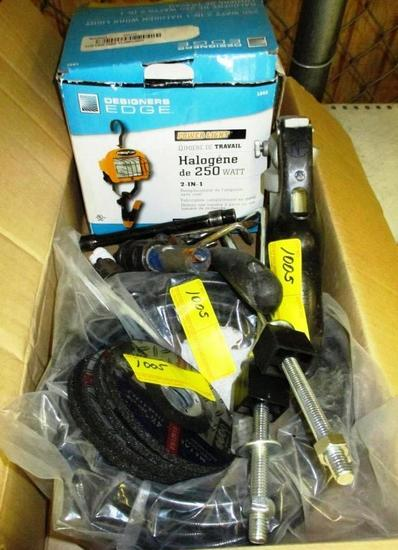 LOT OF TOOLS, WORK LIGHT & MORE
