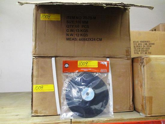LOT OF 240 NEW GRINDING PADS, PN: 20-70-M 180mm GRINDING PADS - 4 BOXES OF 60 EACH