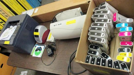 LOT OF PRINTERS, INK, PHOTO PAPER & JETDIRECT