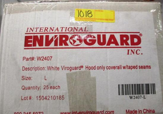 2 BOXES OF ENVIROGUARD COVERALLS - L - 25 PER BOX W2407