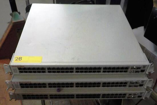LOT OF 3 OMNISWITCH 6800-48