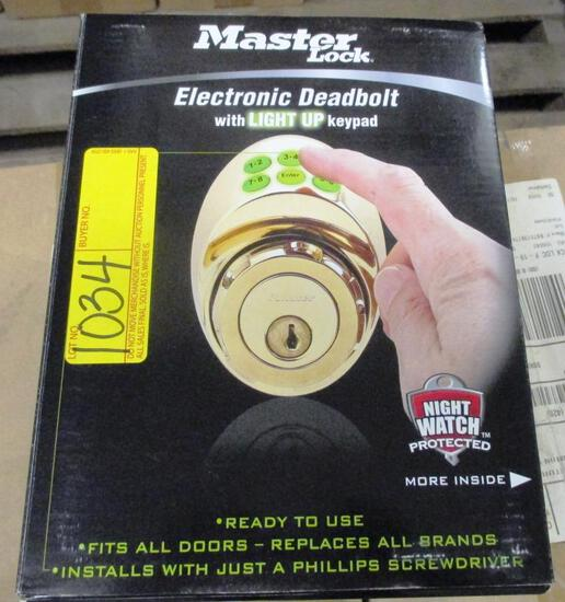 15 NEW MASTER LOCK DSKP0605D ELECTRONIC DEADBOLTS