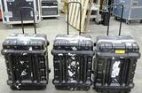 3  ROLLING EQUIPMENT CASES WITH RETRACTABLE HANDLES