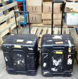 2 HEAVY PLASTIC FOAM-LINED ROLLING EQUIPMENT CASES