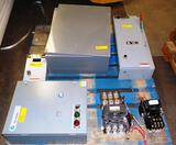 LOT OF ELECTRICAL BOXES, BREAKERS & ENCLOSURE