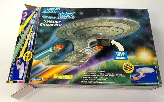 PLAYMATES STAR TREK NEXT GENERATION STARSHIP ENTERPRISE WITH ORIGINAL BOX