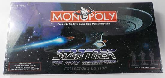 NEW MONOPOLY STAR TREK THE NEXT GENERATION COLLECTOR'S EDITION
