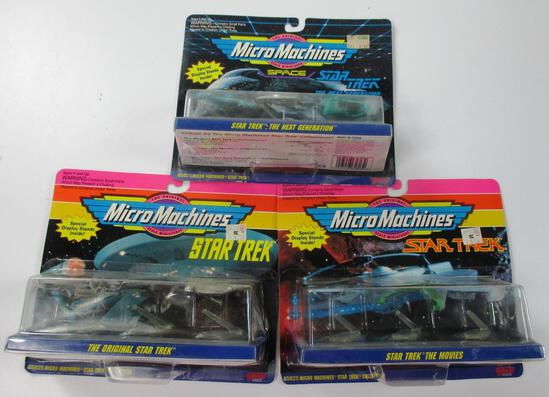 LOT OF 3 NEW STAR TREK GALOOB MICRO MACHINES