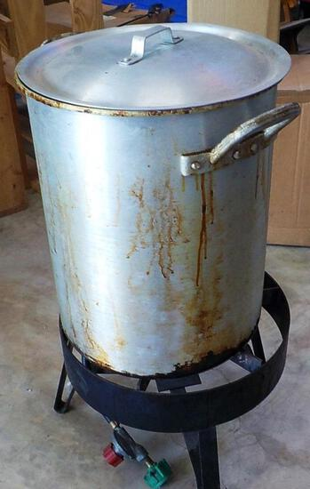 PROPANE FRYER STAND WITH POT