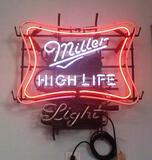 MILLER HIGH LIFE LIGHT NEON SIGN