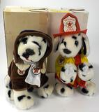 LOT OF 2 TEXACO COLLECTOR STUFFED DOGS IN ORIGINAL BOXES