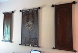 3 LEATHER OR FAUX LEATHER WALL HANGINGS