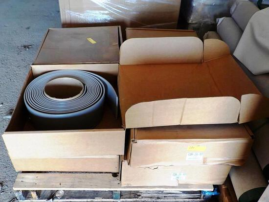 PALLET OF 8 BOXES OF COLONIAL RUBBER BASE - GRAY