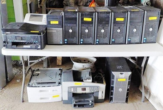 LOT OF COMPUTERS, SCANNER & PRINTERS