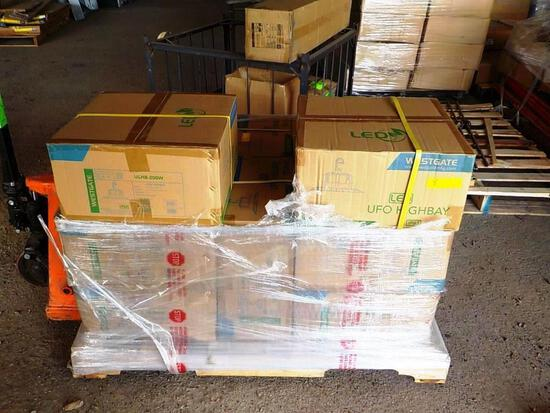 PALLET OF 12 NEW WESTGATE LED HIGHBAY FIXTURES