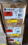 3 NEW GE 30AMP SAFETY SWITCHES