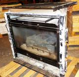 USED GAS FIREPLACE INSERT WITH GUARD AND LOGS