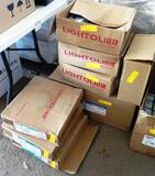 8 BOXES OF LIGHTOLIER HARDWARE AND TRIM