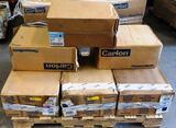 8 BOXES OF NEW CARLON & CANTEX GANG BOXES