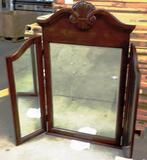 PALLET OF 21 NEW WOOD FRAMED MIRRORS IN BOXES