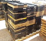 PALLET OF 149 PLASTIC COLLAPSIBLE CRATES - TAN & BLACK