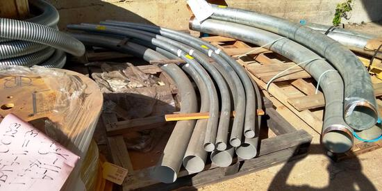"""3 PALLETS OF LARGE METAL GALVANIZED ELBOWS - 6"""", 4"""" AND 2"""""""