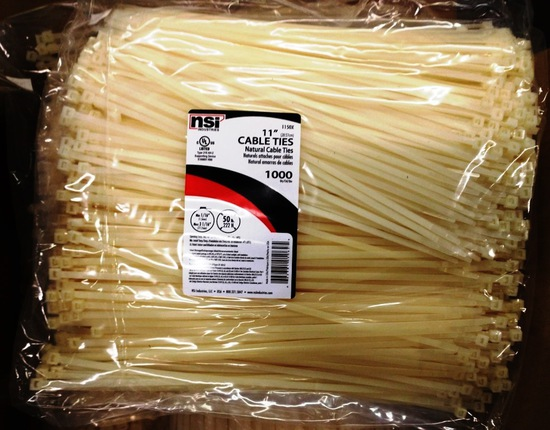 """LOT OF 10,000 CABLE / ZIP TIES 11"""" LONG"""