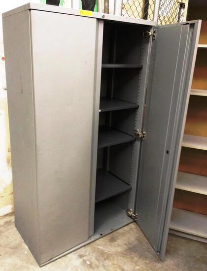 GRAY METAL TEKNION 2 DOOR STORAGE CABINET