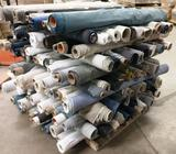 PALLET OF APPROX. 135 PARTIAL ROLLS OF FABRIC