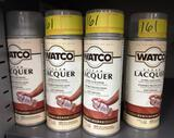 18 NEW CANS OF WATCO CLEAR LACQUER - 11-1/4  OZ. EACH